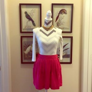Francesca's: Free Hug hot pink short skirt